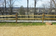 Lakeshore - split rail with green fence