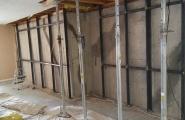 Steel reinforcement(front door to middle14×8ft