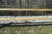 Lakeshore - split rail with green fence (1)